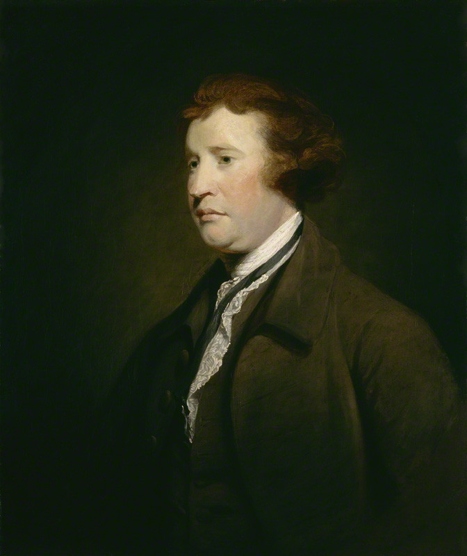 Painting of Edmund Burke, Studio of Joshua Reynolds (1767-69). National Portrait Gallery