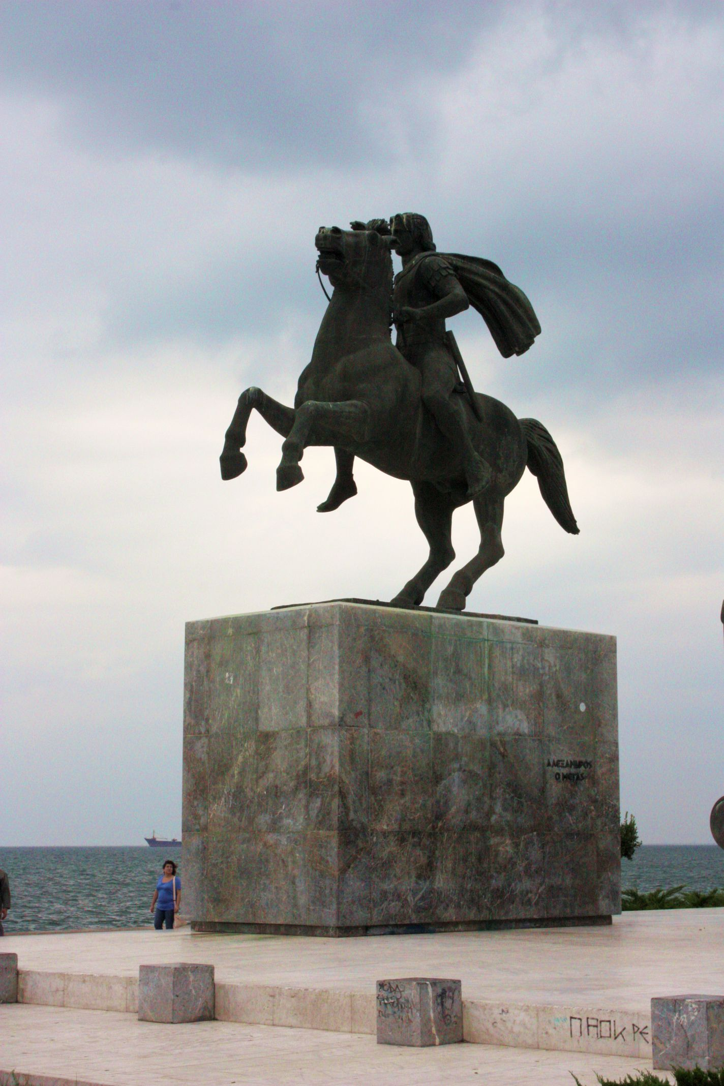 Sculpture of Alexander the Great in Thessaloniki.