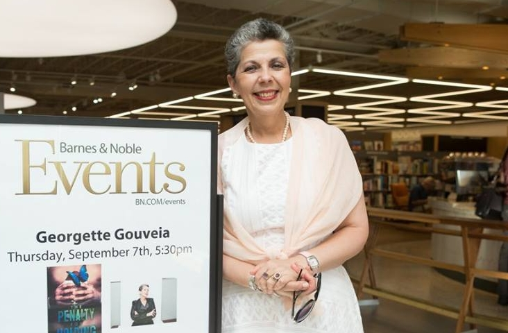At a book event and signing at the Eastchester Barnes & Noble.