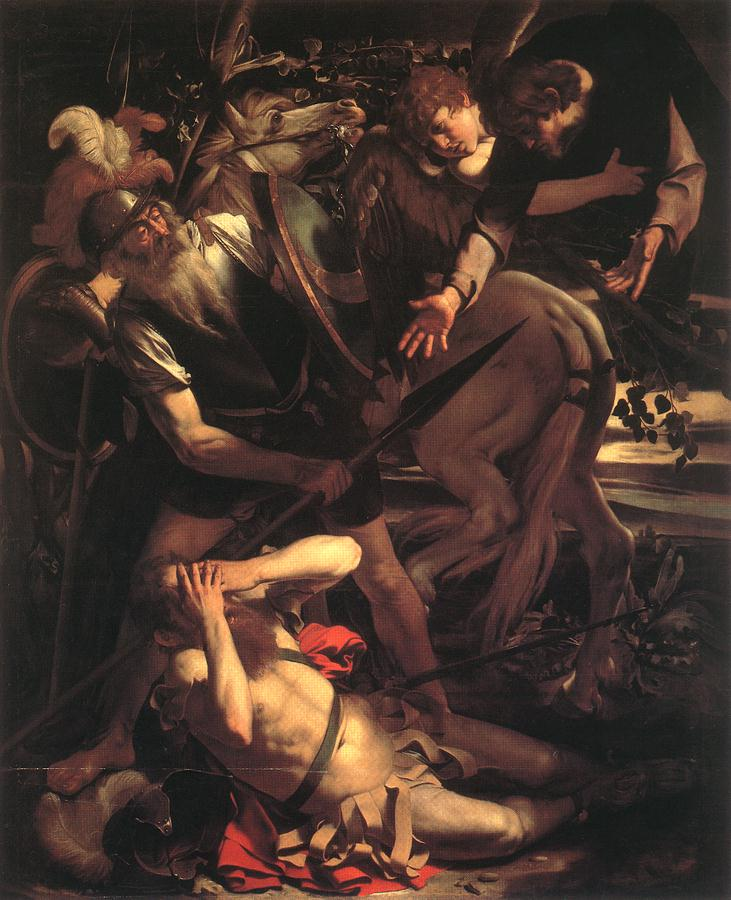 "Caravaggio's ""The Conversion of St. Paul"" (1600), oil on cypress wood. Odescalchi Balbi Collection, Rome."