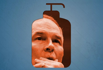 Scott Pruitt's security detail drove him around Washington to find his favorite luxury lotion. Image on  Vox  by Javier Zarracina.