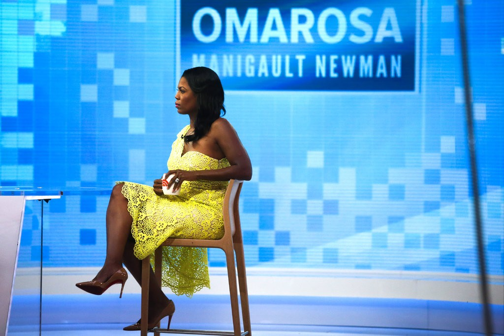 "Caption: Omarosa Manigault Newman plugging her Trump tell-all on ""Today."" Photograph by Eduardo Munoz Alvarez for Getty Images."
