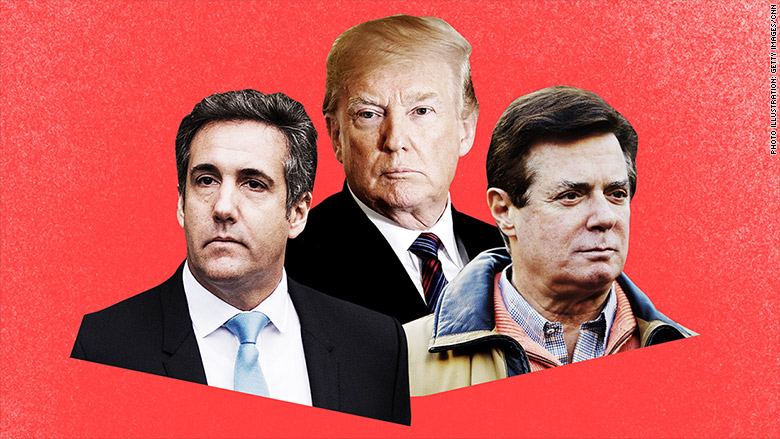 From left to right: Michael Cohen, President Donald J. Trump and Michael Cohen as they  appeared  on money.cnn.com.