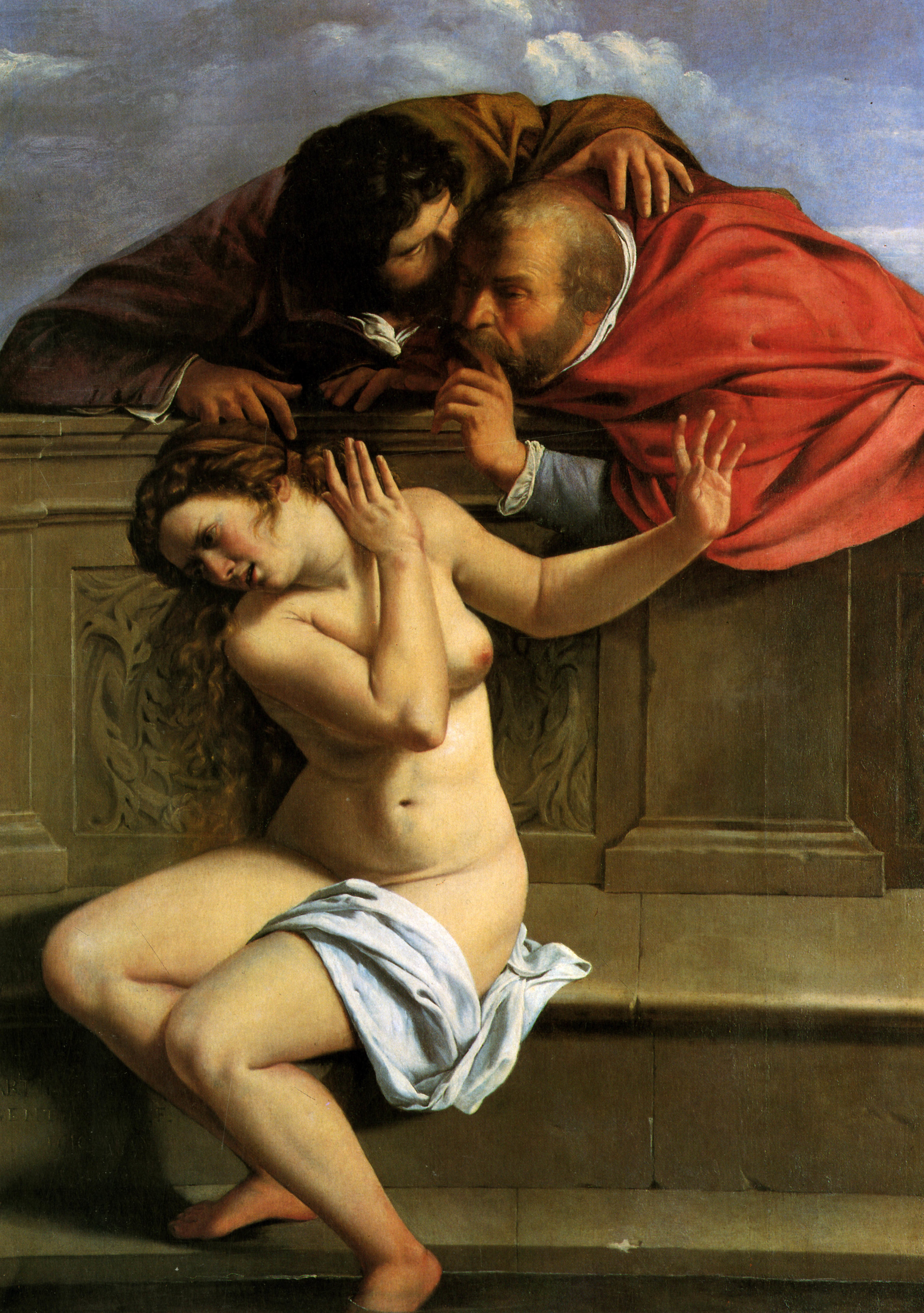 """: """"Susannah and the Elders,"""" a circa 1610 oil on canvas by Artemisia Gentileschi, who was raped and then tortured to ensure she was telling authorities the truth about the crime."""