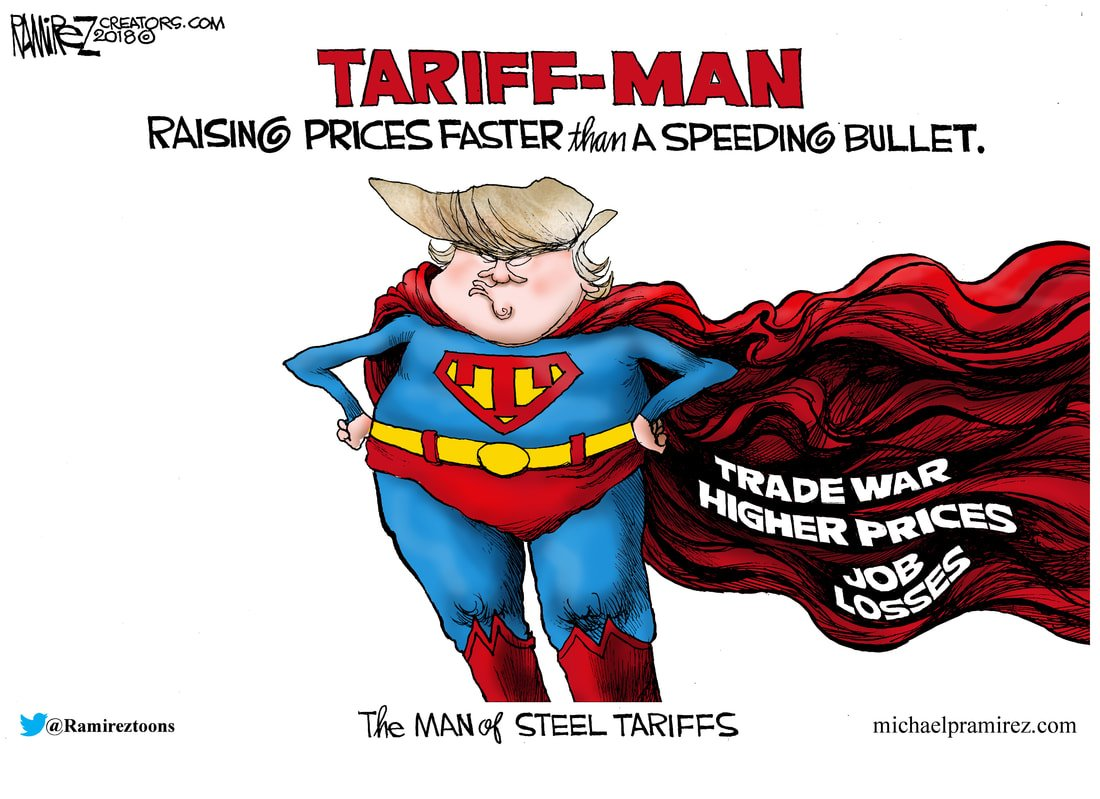 Michael Ramirez's spot-on take on Tariff Man as seen on  Vox .