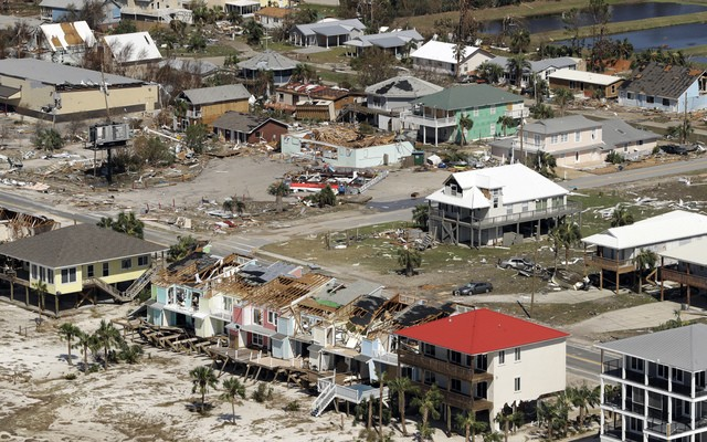 Gone with the wind: The Florida Panhandle, seen here after Hurricane Michael in a photo from  ABC Action News WFTS Tampa Bay,  finds itself in the eye of the government shutdown storm.