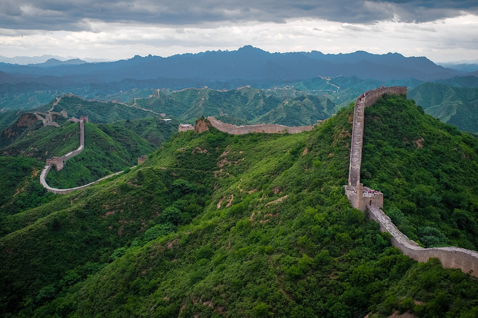 There are walls and then there are walls. The Great Wall of China at Jinshanling.