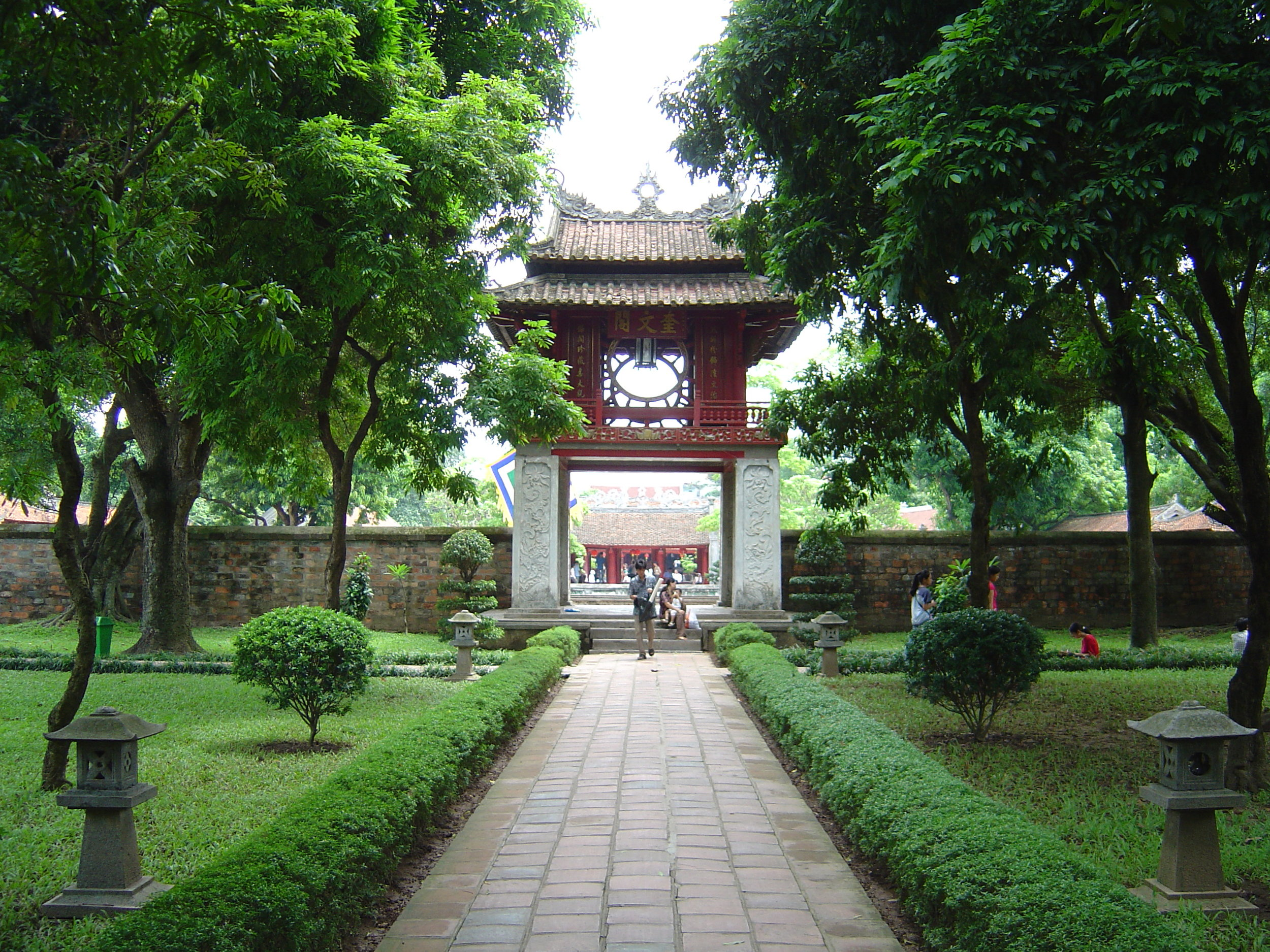 The Temple of Literature in Hanoi.
