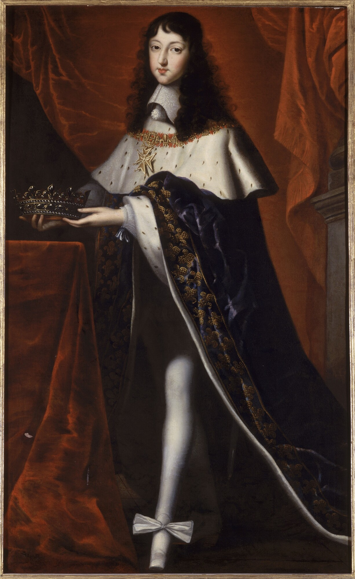 "Philippe I, duke of Orleans, in the robes he wore to his brother Louis XIV's coronation in 1654, oil on canvas. Palace of Versailles. The Met's ""Camp"" show would define the bisexual cross-dressing Monsieur as camp, but would he?"