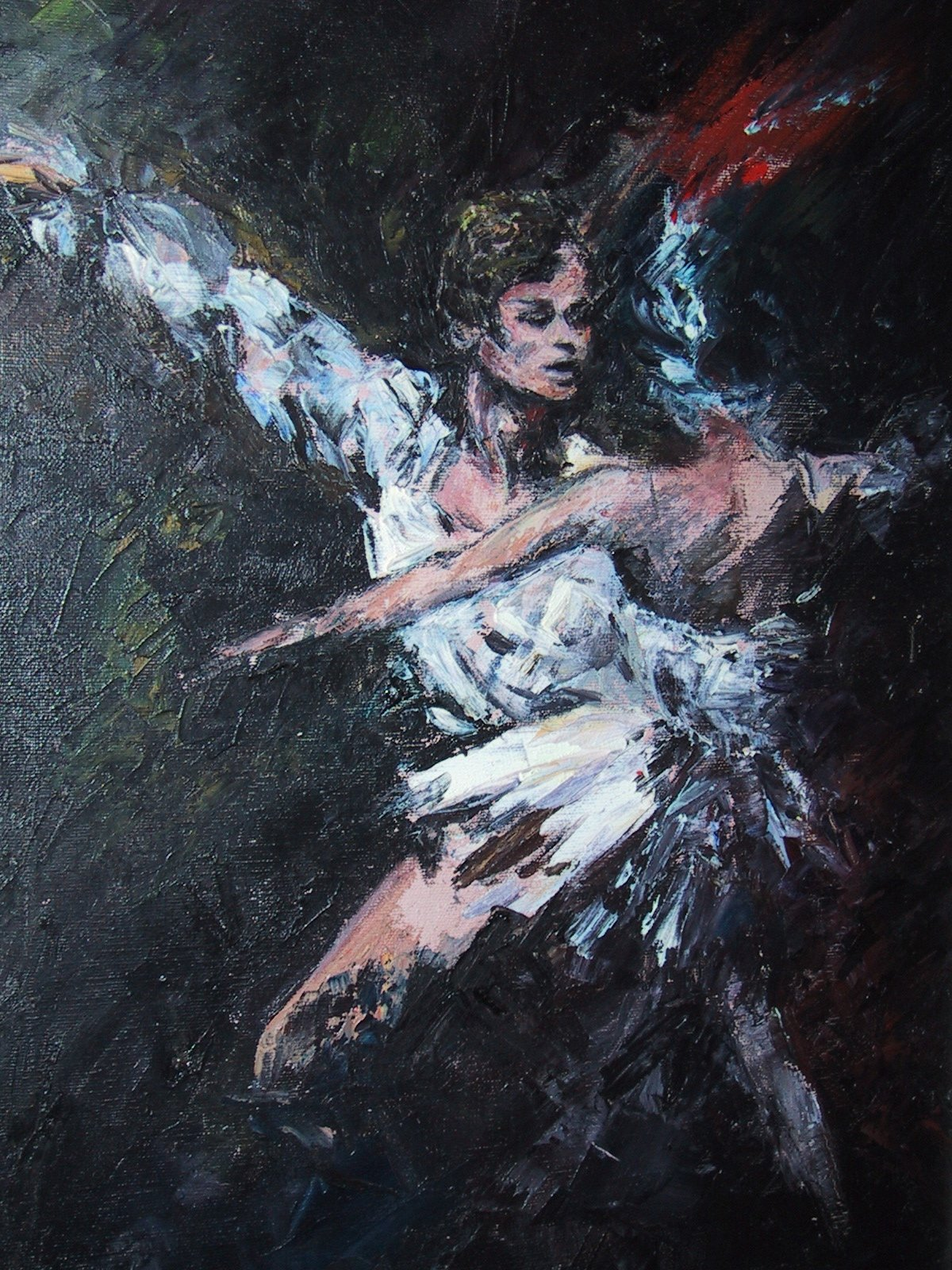 Irina Belotelkin's oil portrait of Mikhail Baryshnikov, one of the greatest male dancers of the last half a century.