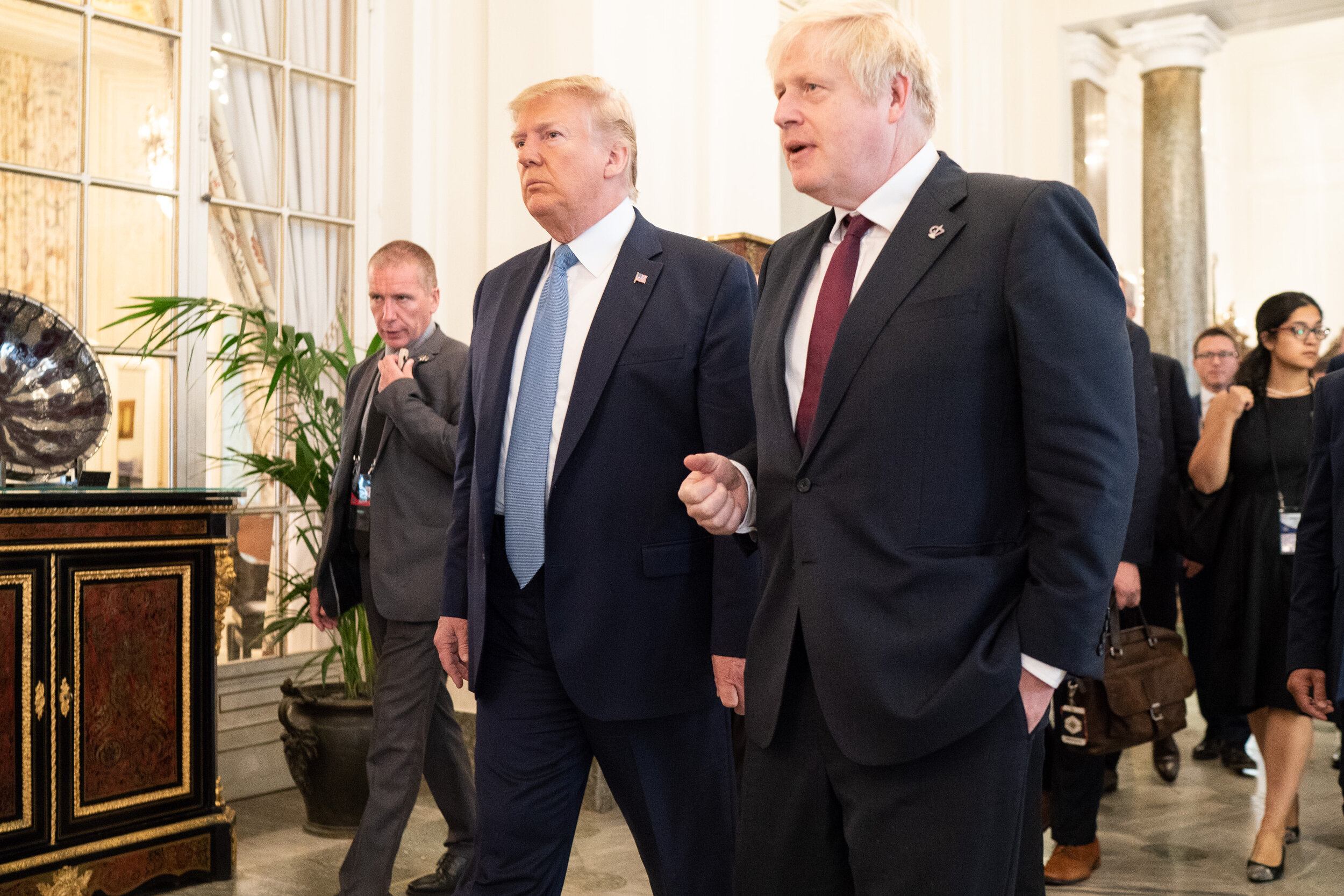'The things we did last summer': President Donald J. Trump and British Prime Minister Boris Johnson at the G7 in Biarritz, France Aug. 25.. Official White House photograph by Shealah Craighead.