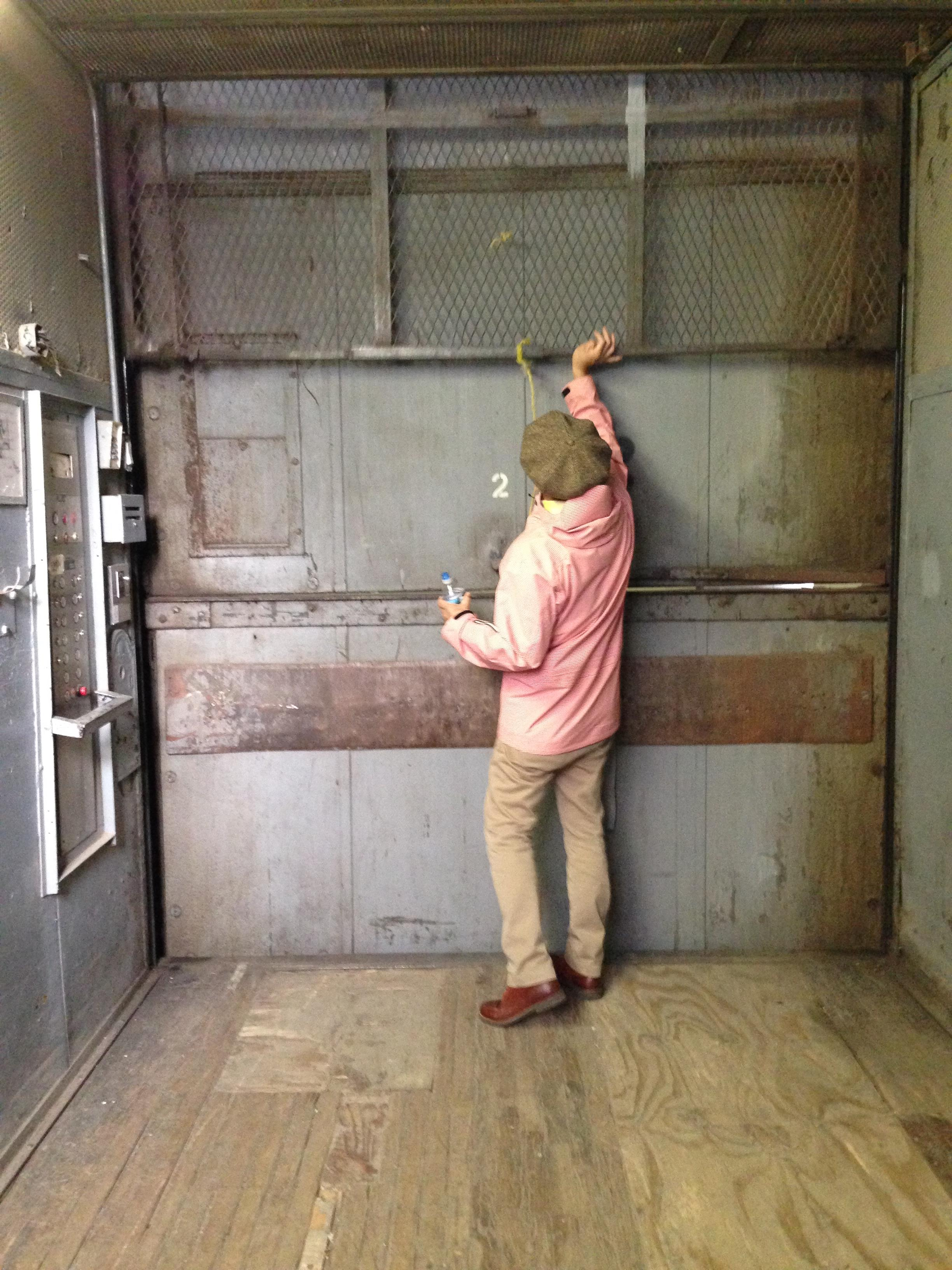 We took the freight elevator.