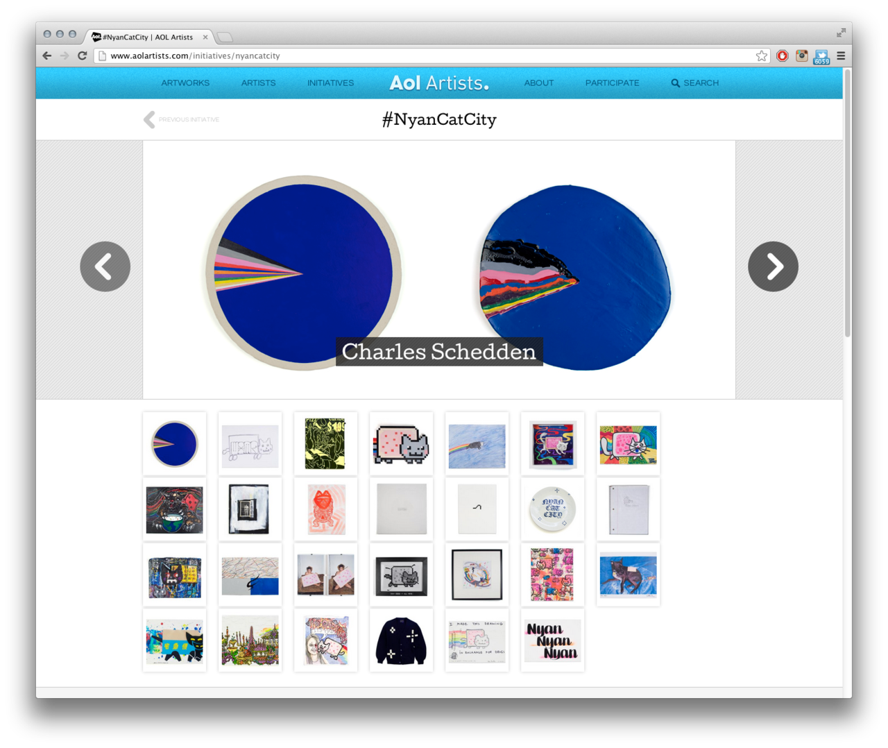 Click image to view #NYANCATCITY artist submissions