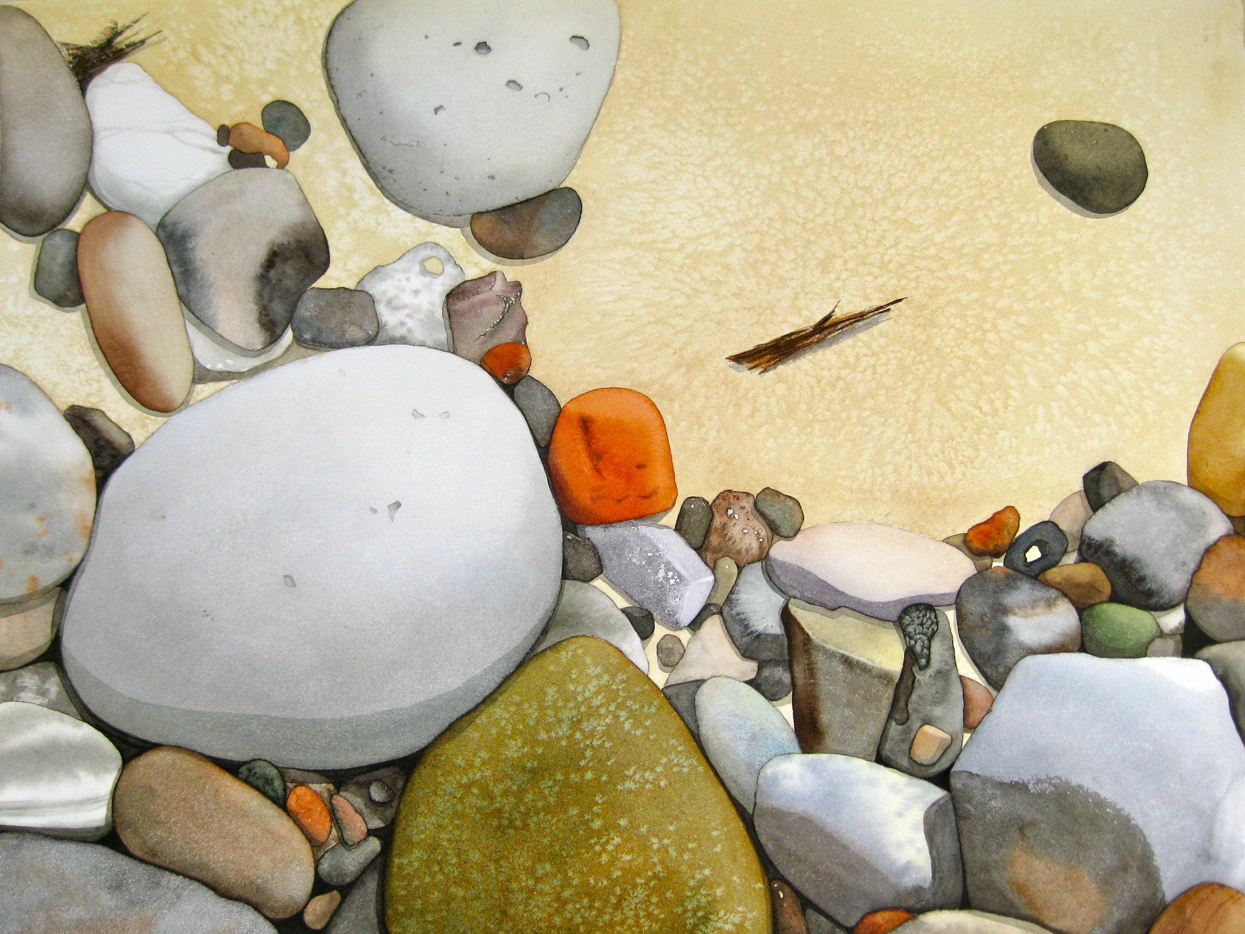 Rocks on Sandy Beach