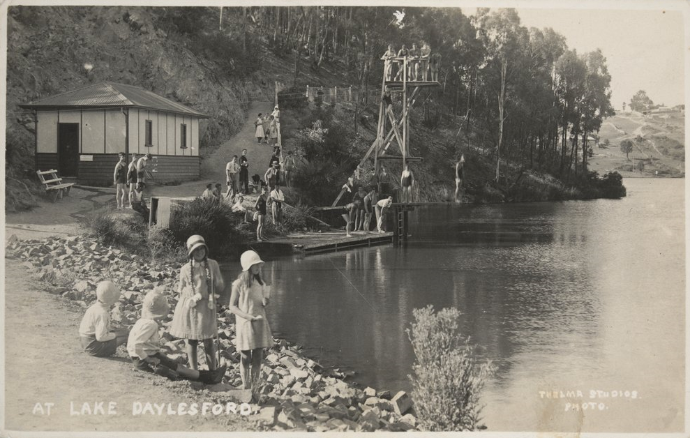 'At Lake Daylesford',postcard c.1932, courtesy State Library of Victoria: H96.200/1718
