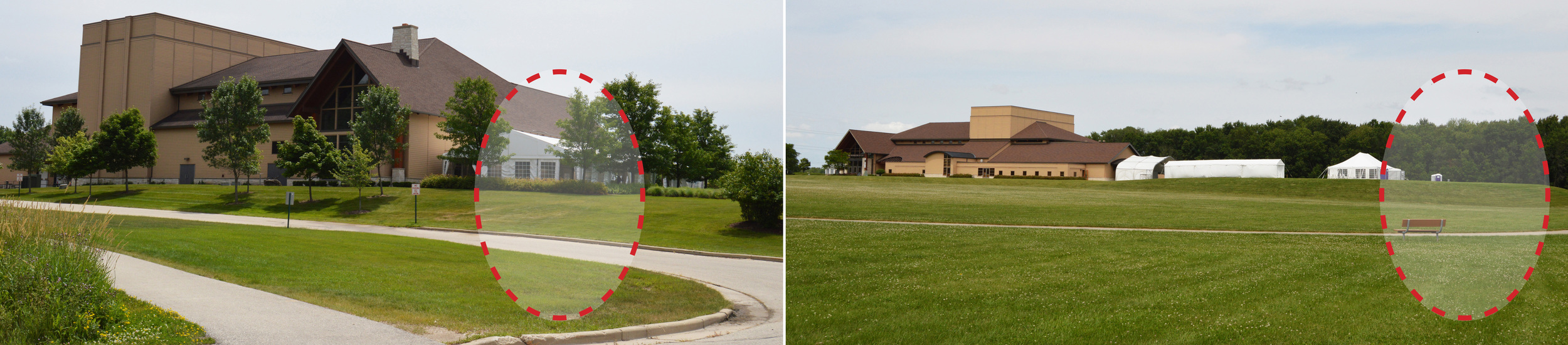 """""""NORTH WOODS"""" Location (LEFT) AND """"SE FIELD"""" LOCATION (RIGHT)"""