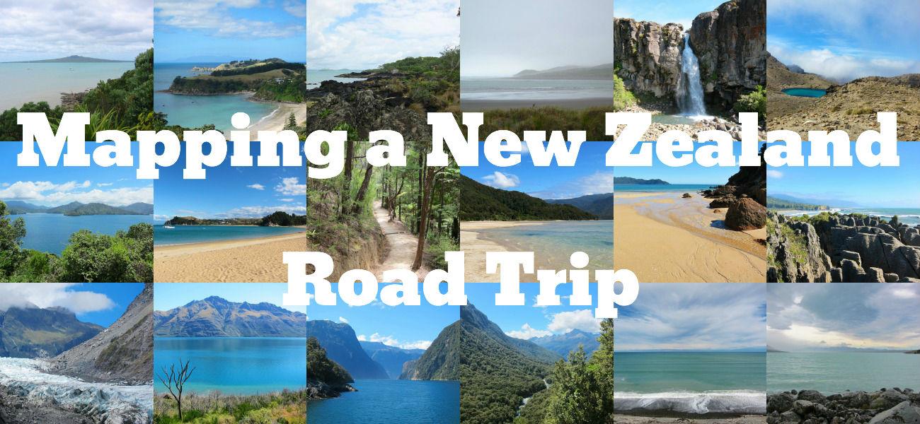 Map Design: New Zealand Road Trip www.glutenfreetravelette.com