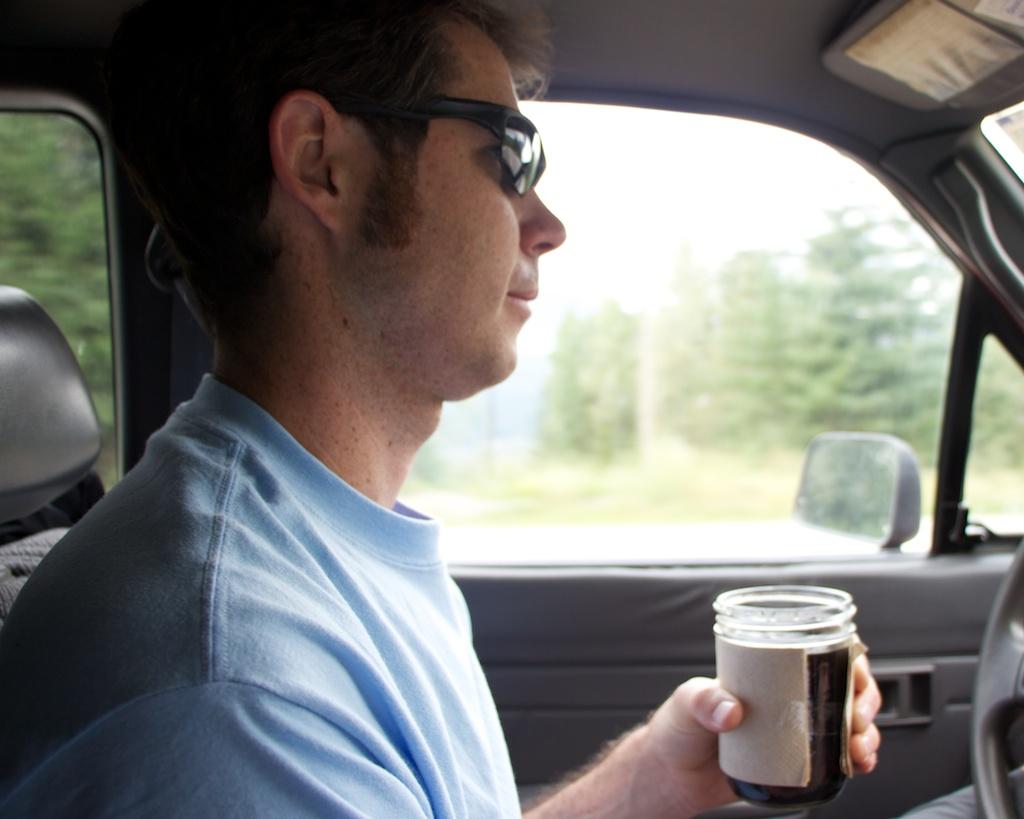 Driving with Coffee In a Jar www.glutenfreetravelette.com