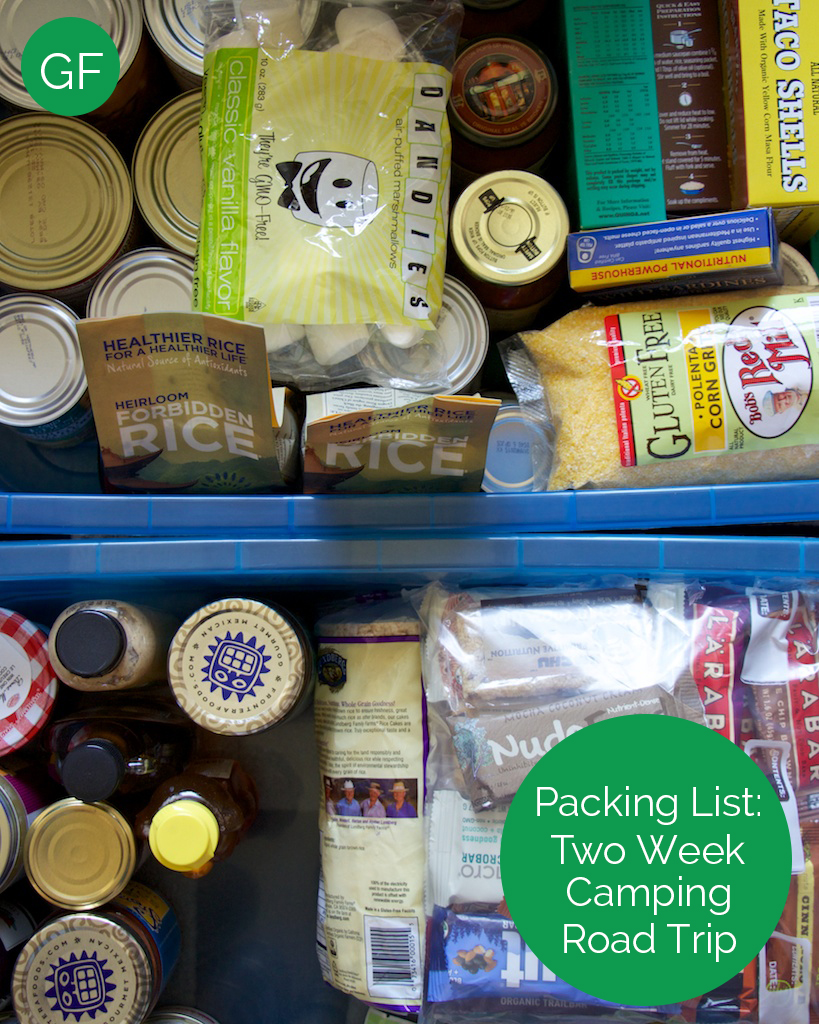 Gluten Free Packing List for a Camping Road Trip www.glutenfreetravelette.com