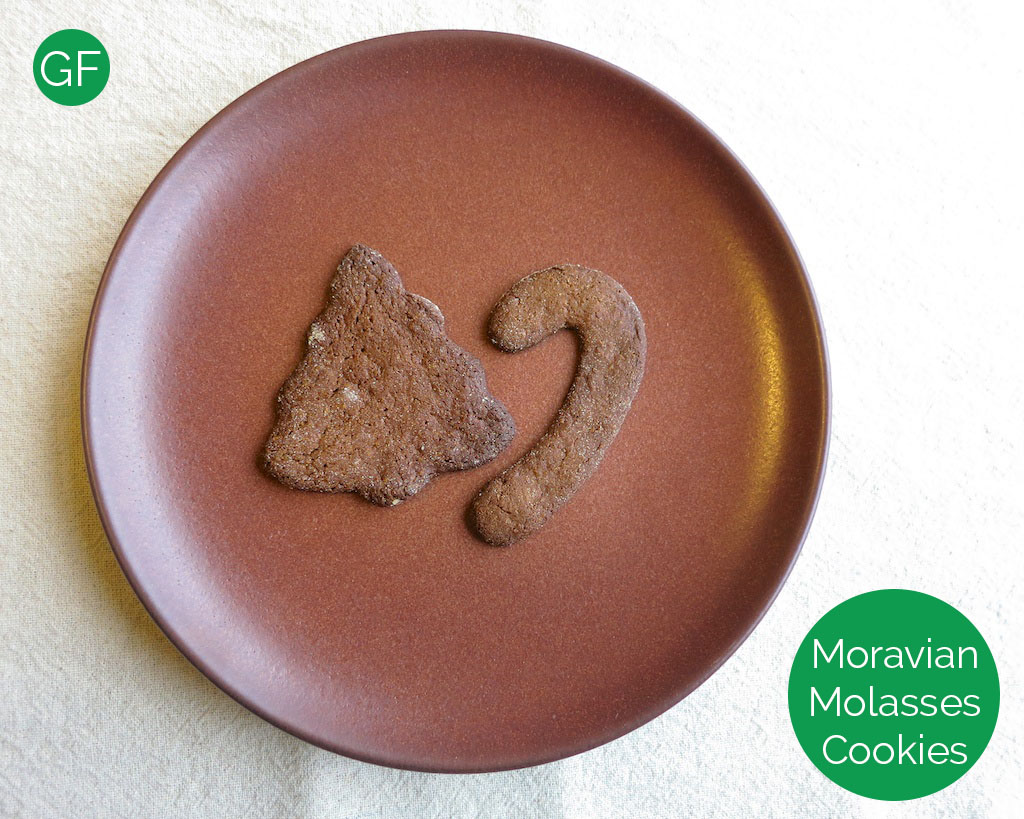 Gluten Free Moravian Molasses Cookies