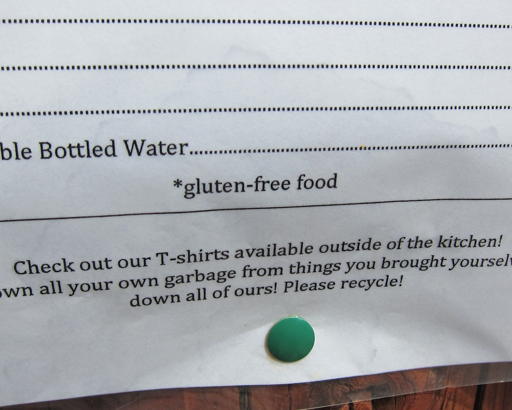 Gluten Free Food at the Teahouse