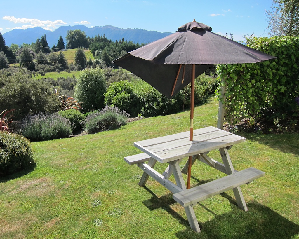View from Blue Thistle Cottages in Te Anau, New Zealand
