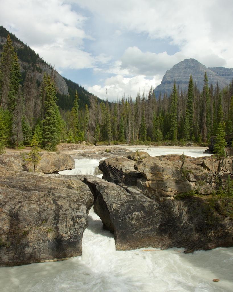 Natural Bridge in Yoho National Park, British Columbia, Canada
