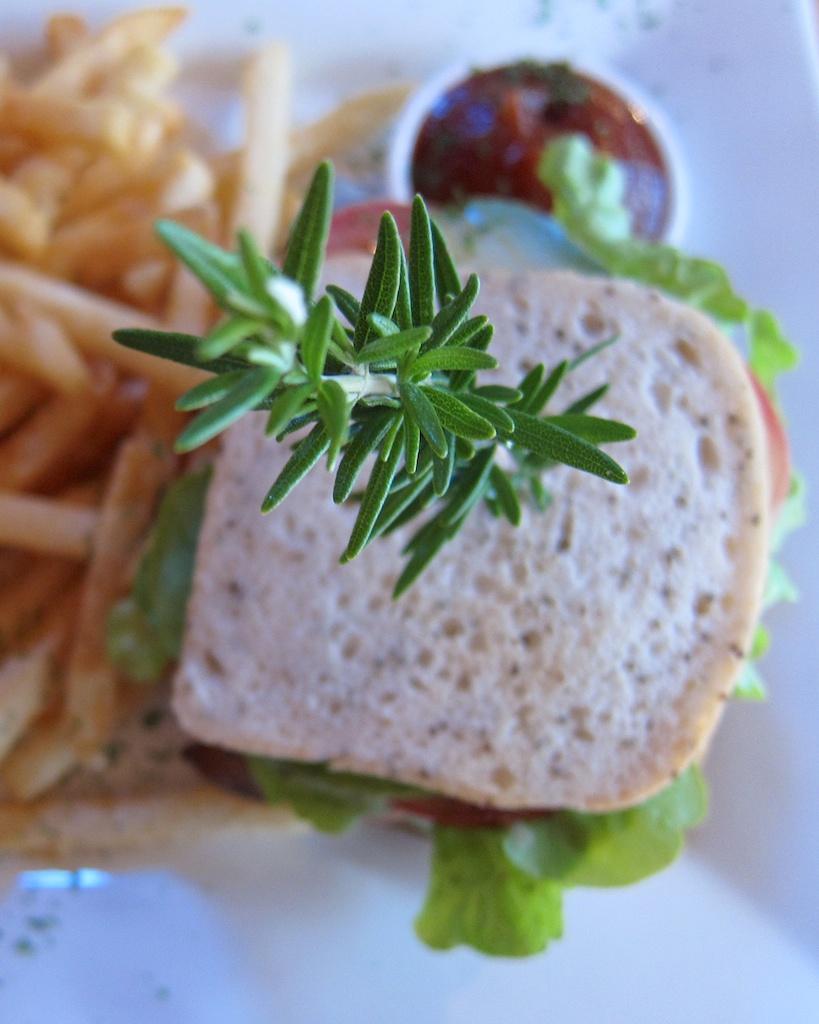 Gluten Free Club Sandwich from Up the Garden Path in Motueka, New Zealand