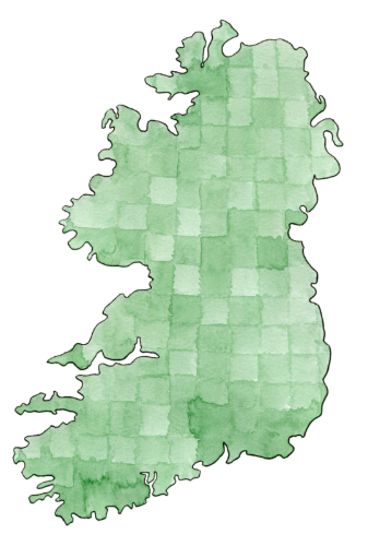 #30Maps | Ireland - Watercolor and Pen by Adina Marguerite Pease