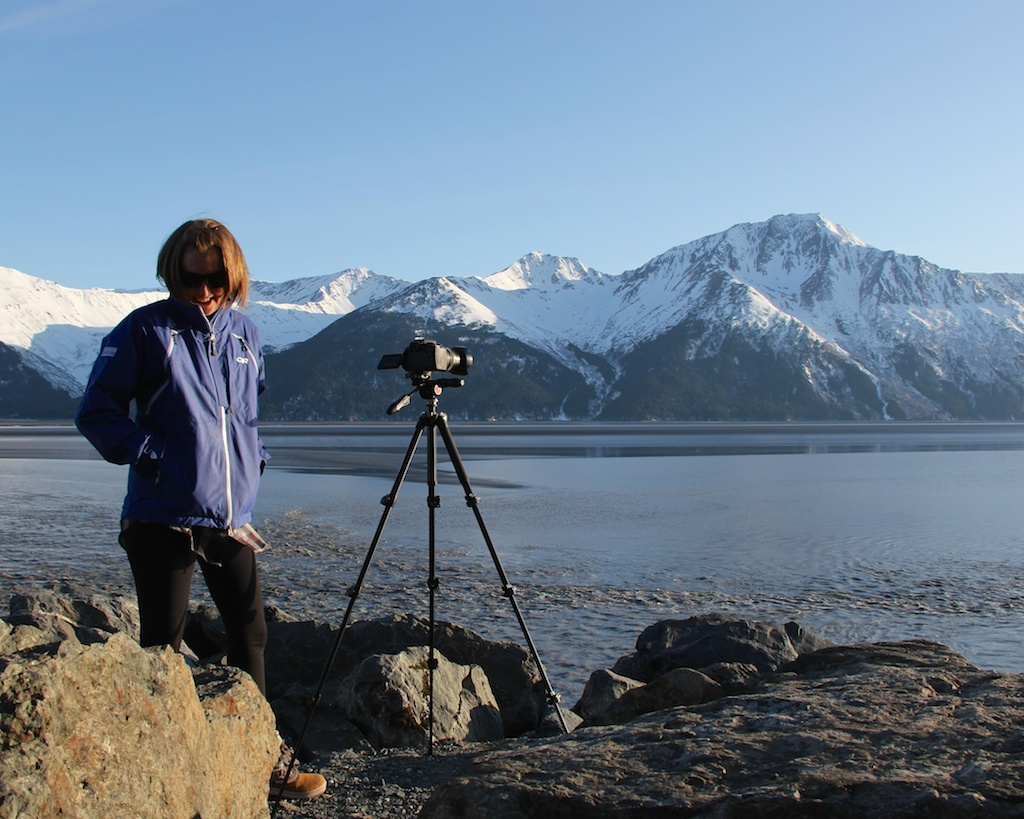 Filming On Alaska's Turnagain Arm