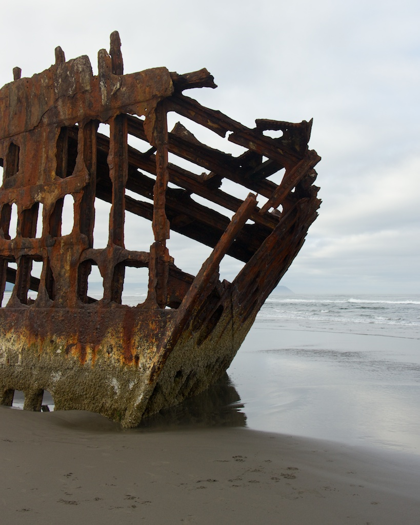 The Peter Iredale Shipwreck, Fort Stevens State Park, Oregon