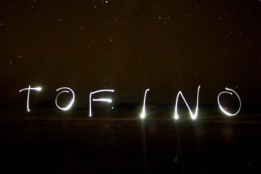 Light Painting on Mackenzie Beach in Tofino