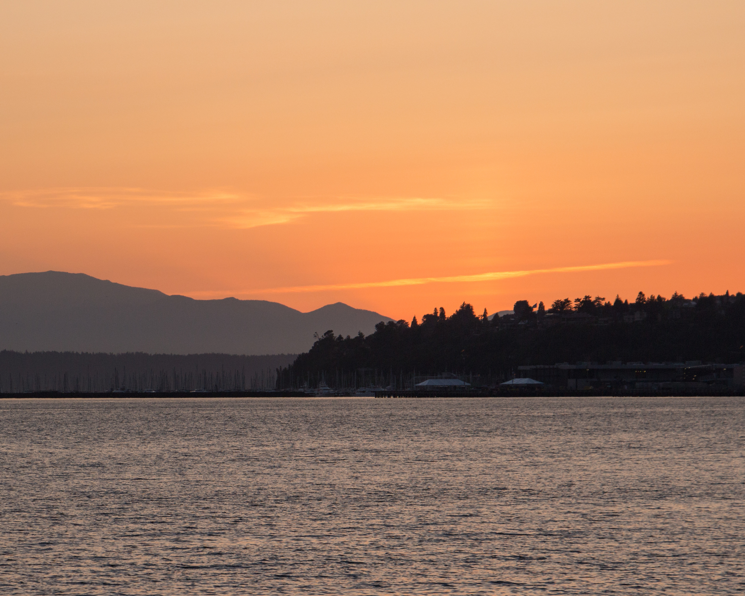 Sunset from Pier 70, Seattle, Washington