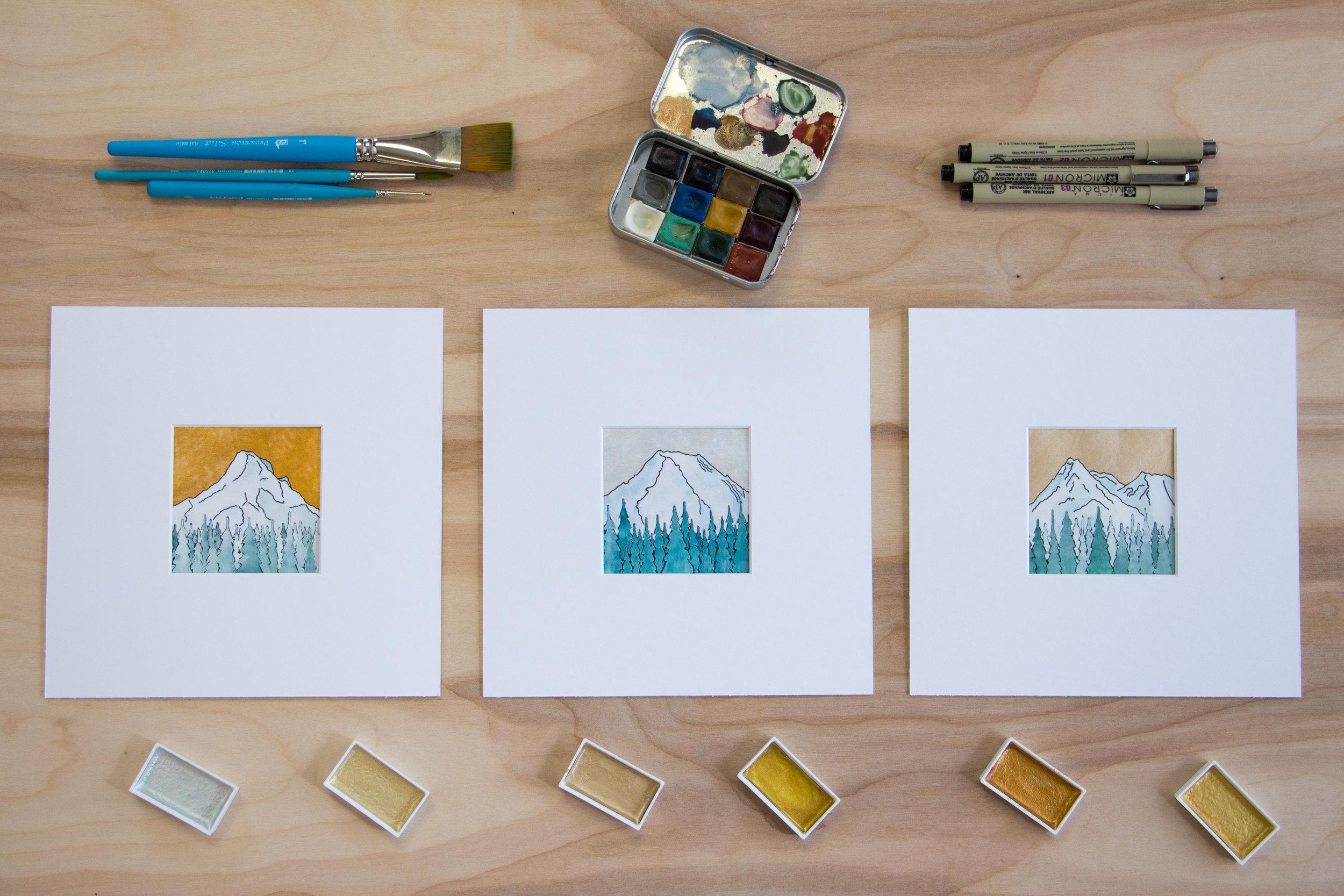 Artist Series Metallic Mountain Tiles