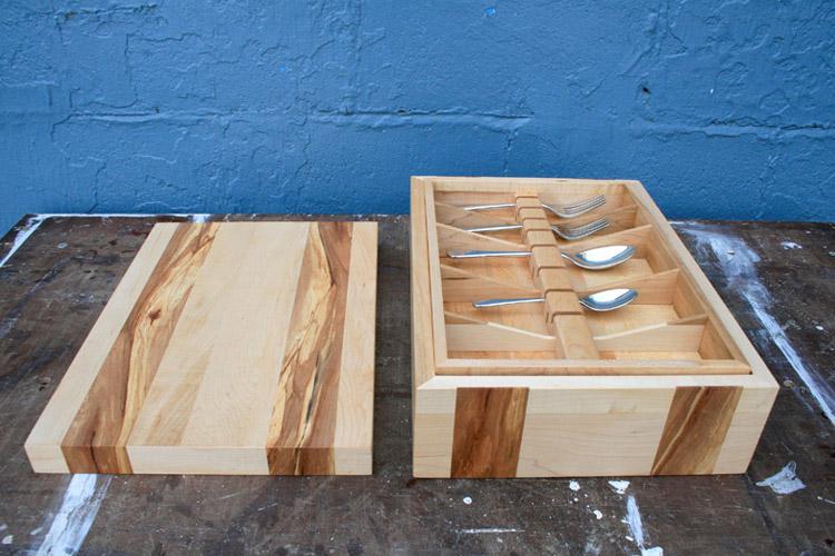 Maple Cutlery Box