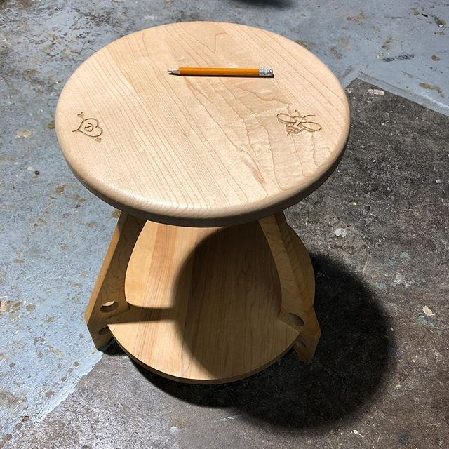 Maple stool with custom lazer etchings for my love.  @yewwoodshop #woodworking #art #design #furniture #lazer #eastvan #stool