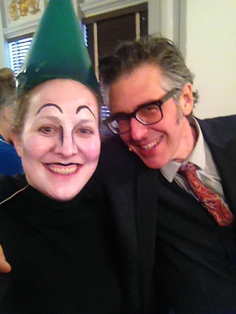 Backstage (as an elf) w/Ira Glass at This American Life at BAM!