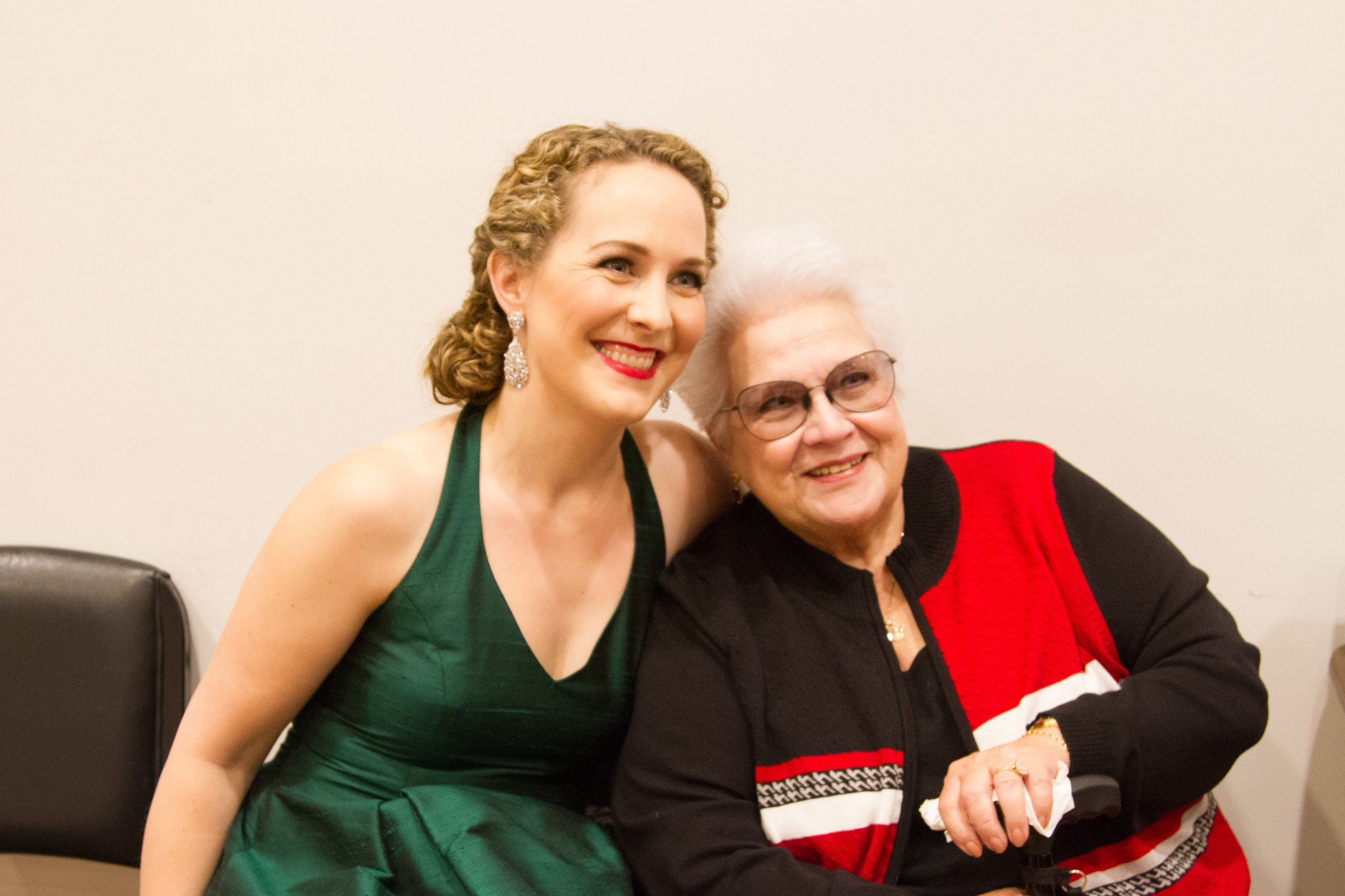 Backstage at Carnegie Hall with mentor Marilyn Horne