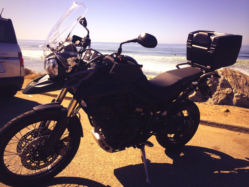 My bike for the PCH; a Triumph Tiger 800 XC.