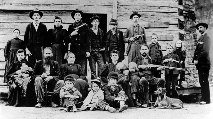 Hatfield's and McCoy's famous feud in WV and KY.