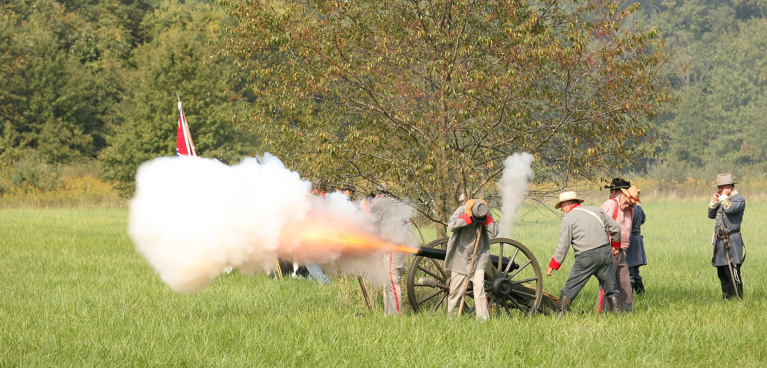 Civil War Reenactment.