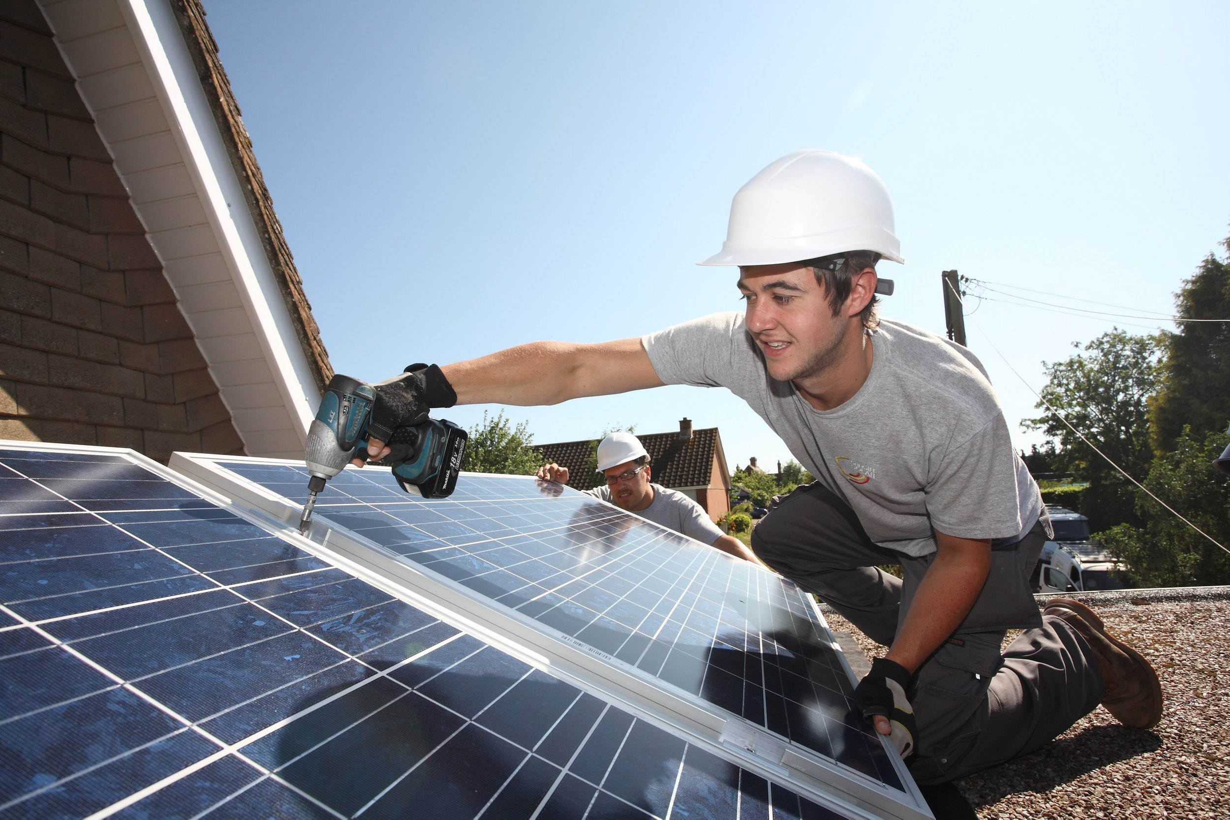 Although solar panels are frequently installed on a roofs they can also be installed on the ground.