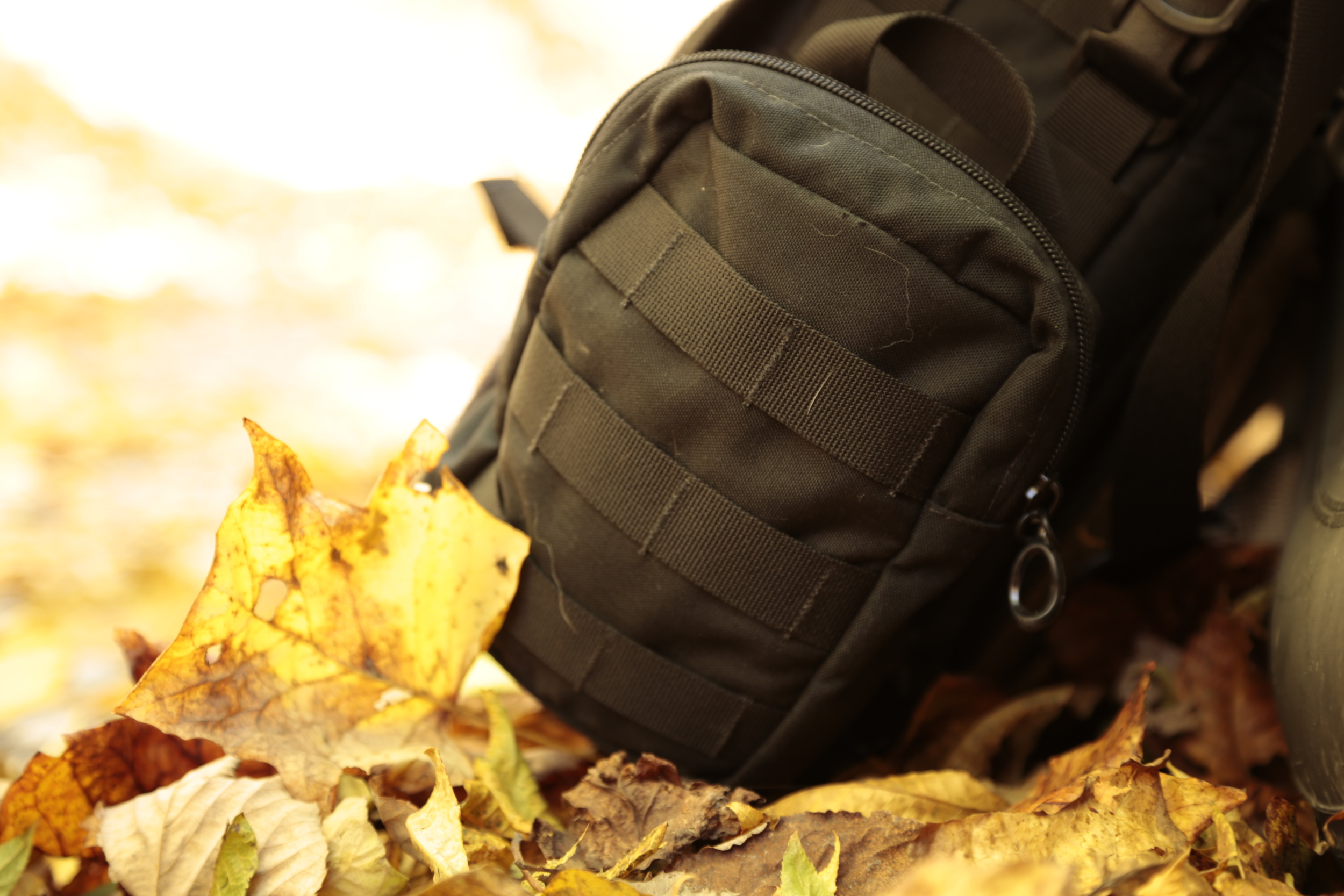 Easily fit an optional  small GP MOLLE Pouch  for additional storage.