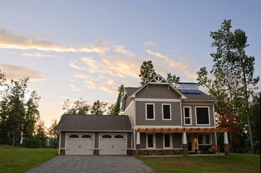 """Our home in southern VAis constructed to meet strict German """"passivhaus"""" standards resulting in an energy demand of less than 70% as compared to typical US construction, but we still pay close attention to the energy we use."""
