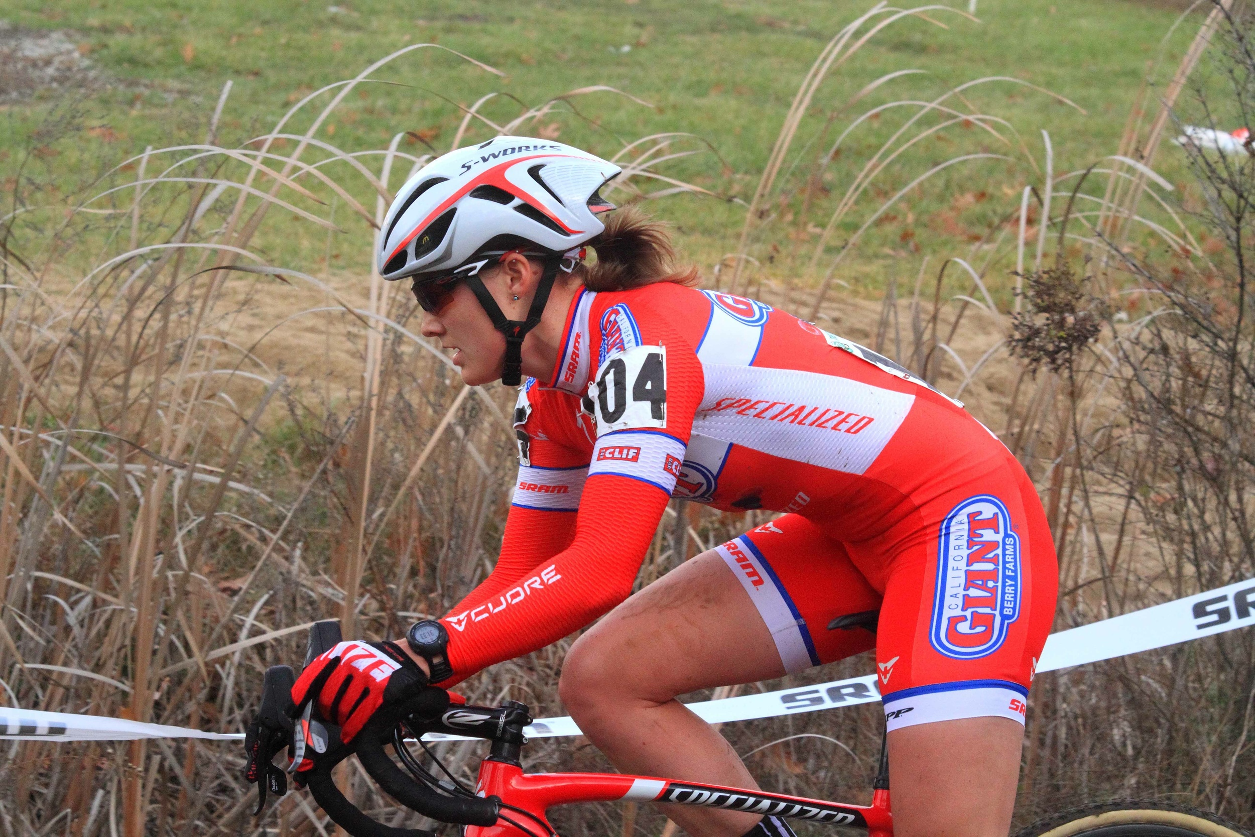 Bell Lap Athlete Elle Anderson en route to victory at the Gran Prix of Gloucester.