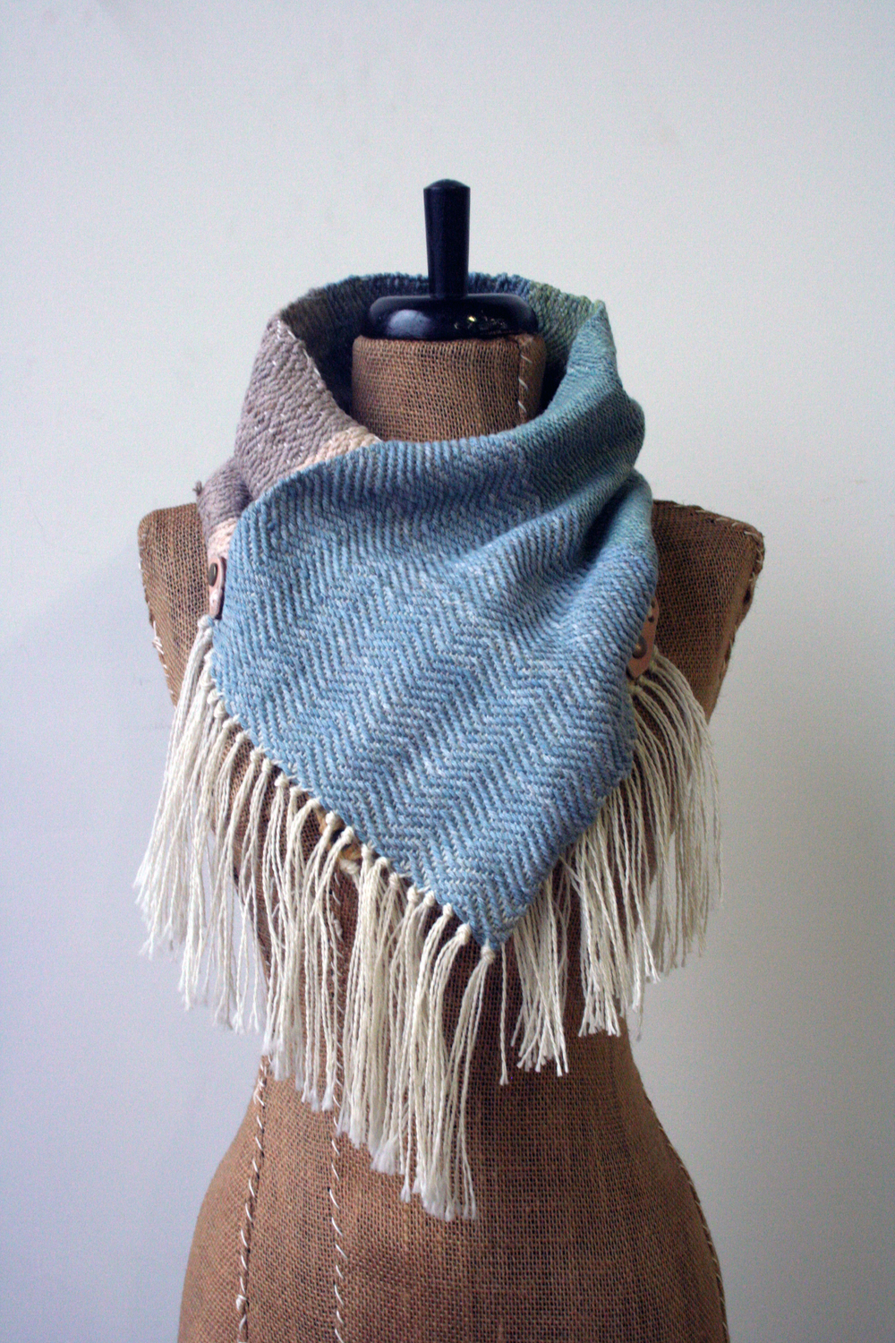 the hand died and woven scarves and cowls from  Adventure Textiles  are stunning!