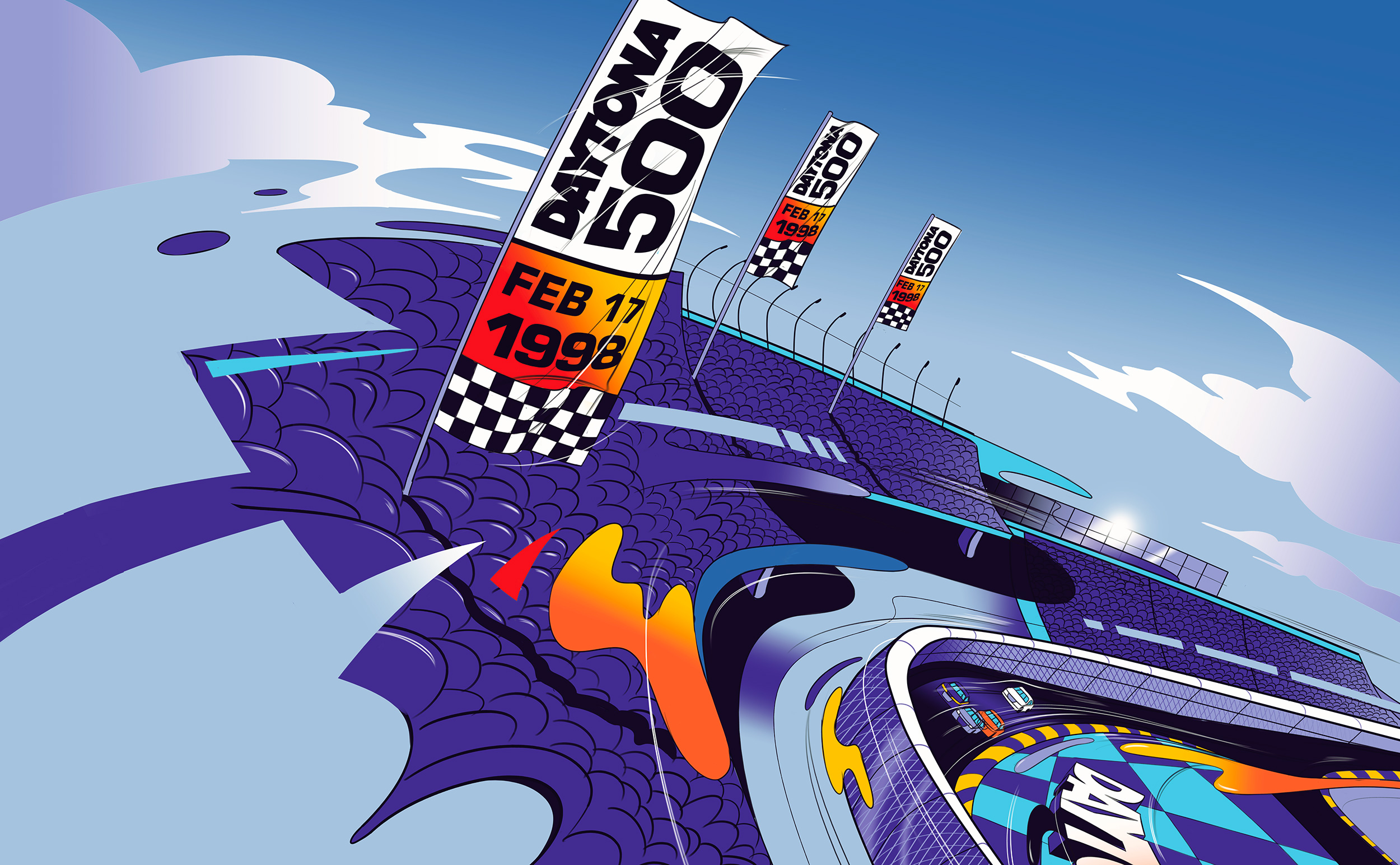 Nascar Daytona — Animated TV Commercial