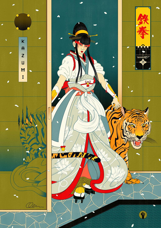 Tekken 7 — Kazumi In-Game Artwork