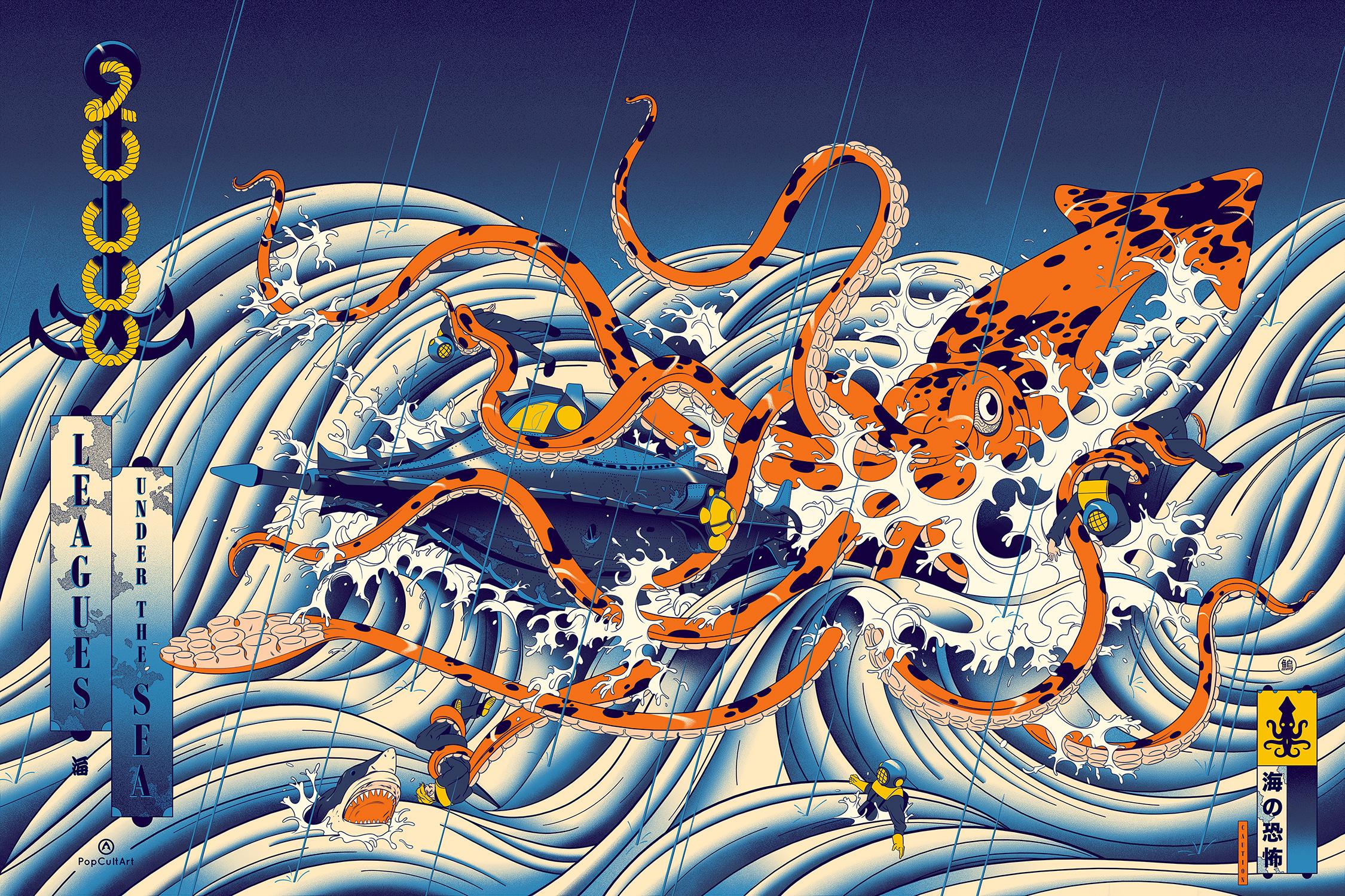 20,000 Leagues Under The Sea — Film Poster Screenprint