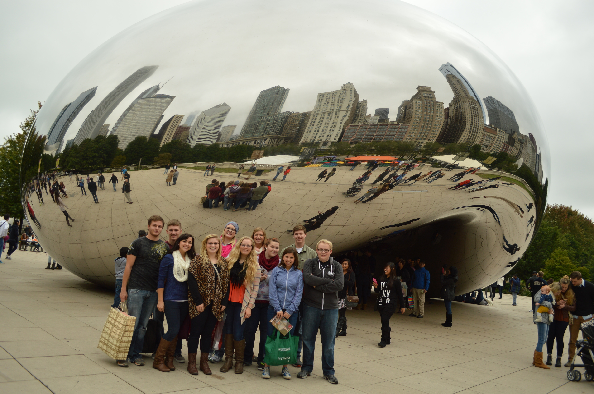 The team at the Bean in downtown Chicago!